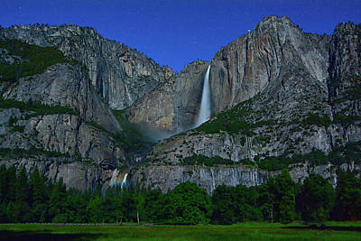 Moonbow Yosemite Falls Art Print