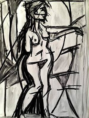 Drawing - Moondance by Brenda Pressnall