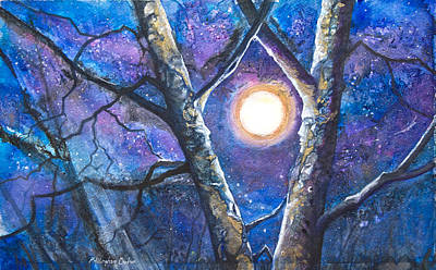 Female Mixed Media - Moondance II by Patricia Allingham Carlson