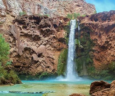 Photograph - Mooney Falls Grand Canyon by NaturesPix