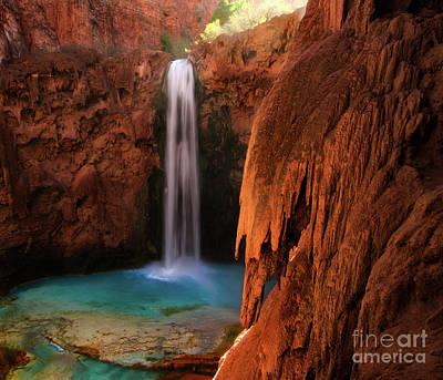 Photograph - Mooney Falls Havasupai by Bob Christopher