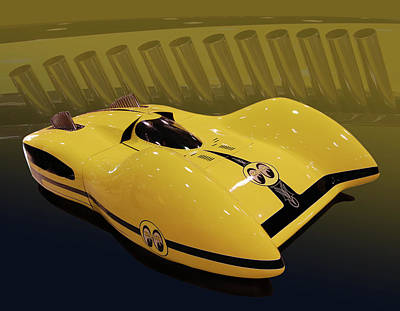 Mooneyes Streamliner Art Print by Bill Dutting