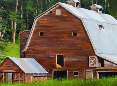 Painting - Mooney's Barn by Paul K Hill