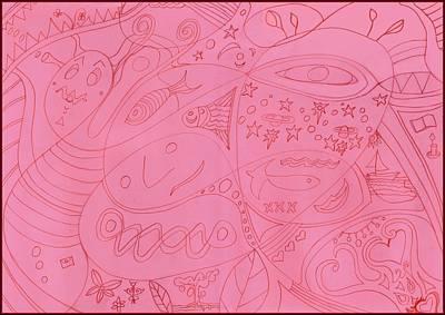 Drawing - Moonfish Bolder by Julia Woodman
