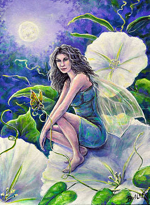 Painting - Moonflower by Gail Butler