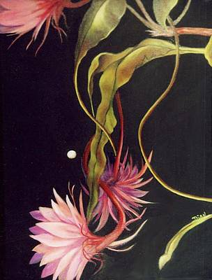 Painting - Moonflowers 1 by Dian Paura-Chellis