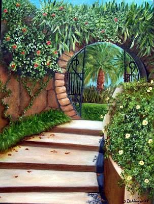 Painting - Moongate At Par De Ville Sold by Susan Dehlinger