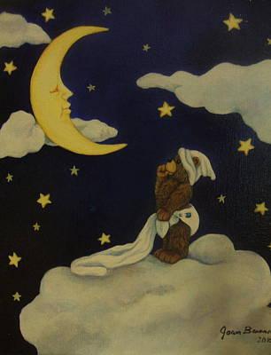 Moongazer Art Print by Joan Barnard