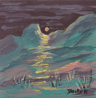 Painting - Moonglow On The High Desert by Donna Blackhall