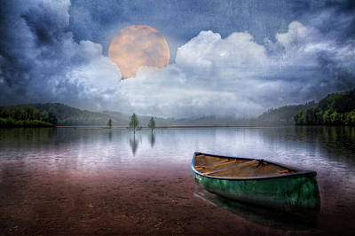Photograph - Moonglow On The Lake by Debra and Dave Vanderlaan