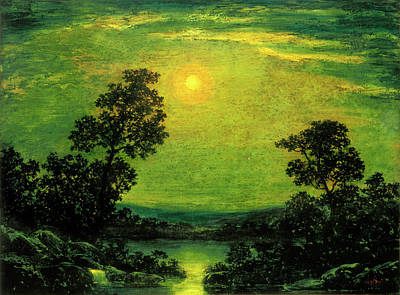 Painting - Moonlight by After Ralph Albert Blakelock
