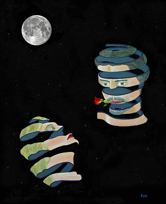 Mixed Media - Moonlight And Roses by Eric Kempson
