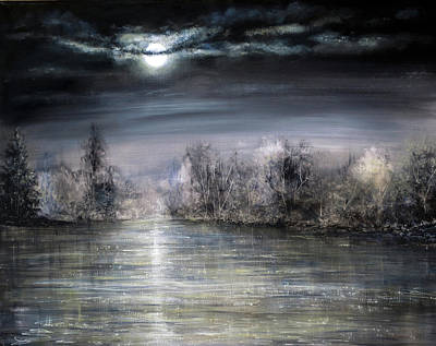 Moonlight Art Print by Ann Marie Bone