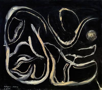 Larry David Painting - Moonlight by Antonio Ortiz