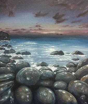 Painting - Moonlight At Cot Valley, Cornwall, U.k by Keran Sunaski Gilmore