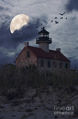 Moonlight At East Point Art Print