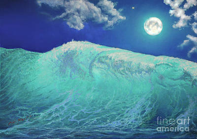 Painting - Moonlight At Sea by Miki Karni