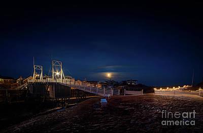 Moonlight At The Footbridge Art Print by Scott Thorp