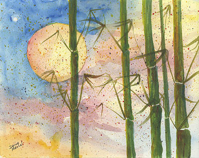 Painting - Moonlight Bamboo 2 by Darice Machel McGuire