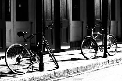 Bourbon Street Photograph - Moonlight Bikes by Mark Courage