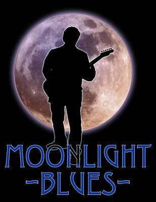Photograph - Moonlight Blues Shirt by WB Johnston