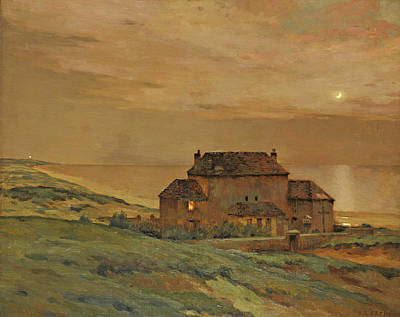 Painting - Moonlight By The Sea by Jean-Charles Cazin