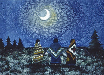 Painting - Moonlight Counsel by Lynda Hoffman-Snodgrass