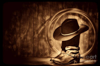 Photograph - Moonlight Cowboy Boots by American West Legend By Olivier Le Queinec