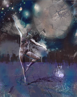 Digital Art - Moonlight Dancer  by Diana Riukas