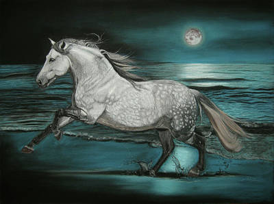 Moonlight Dancer Art Print by Sabine Lackner