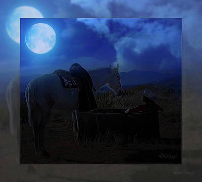 Digital Art - Moonlight Dreams_ 2 Of 4 by Walter Herrit