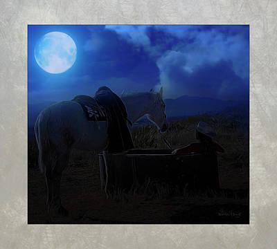 Digital Art - Moonlight Dreams_ 3 Of 4 by Walter Herrit