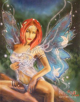 Moonlight Faerie Art Print by Crispin  Delgado