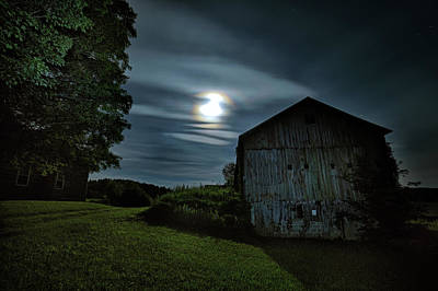 Photograph - Moonlight Farm No. 2 by Geoffrey Coelho