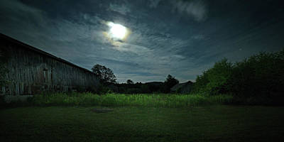 Photograph - Moonlight Farm No. 3 by Geoffrey Coelho
