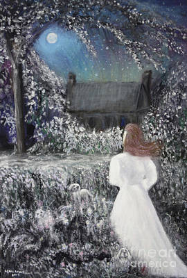 Painting - Moonlight Garden by Lyric Lucas