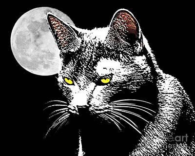 Moonlight Grays Art Print by Laura Brightwood