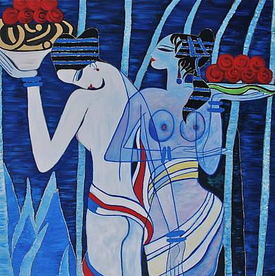 Moonlight Harvest Art Print by Dorota Nowak