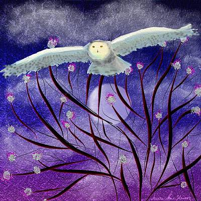 Digital Art - Moonlight Hunt by Iowan Stone-Flowers
