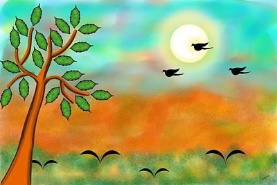 Digital Art - Moonlight-ii by Pratyasha Nithin