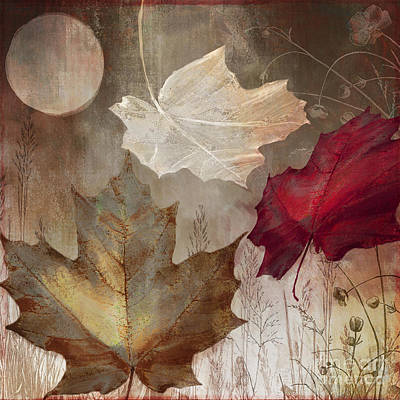 Moonlight In Vermont I Art Print by Mindy Sommers