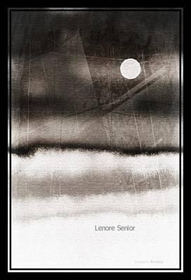 Digital Art - Moonlight In Winter by Lenore Senior