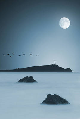 Moonlight Art Print by Jaroslaw Grudzinski
