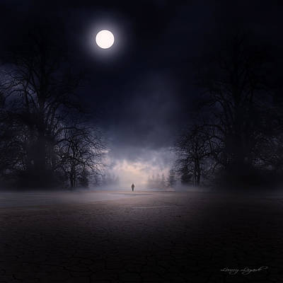 Dark Photograph - Moonlight Journey by Lourry Legarde