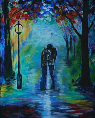 Painting - Moonlight Kiss by Leslie Allen