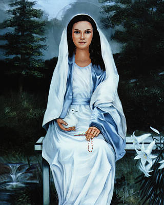 Blissful Painting - Moonlight Madonna by Gregory Clarke-Johnsen