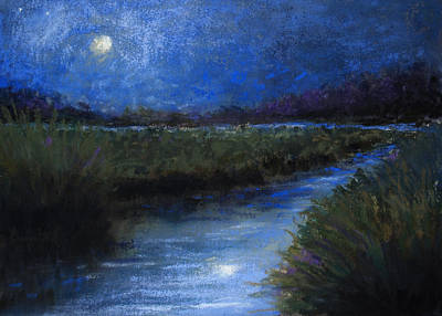 Pastel - Moonlight Marsh by Susan Jenkins
