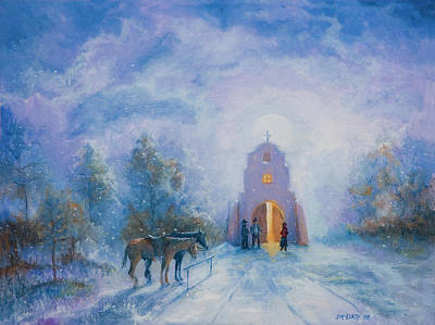 Painting - Moonlight Mass by Jerry McElroy