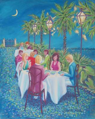 Painting - Moonlight Menus by Pamela Poole