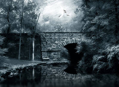 Evening Digital Art - Moonlight Mood by Jessica Jenney
